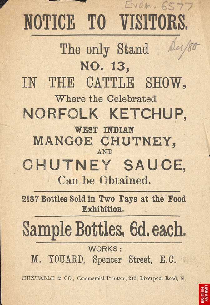 Advert For Condiments